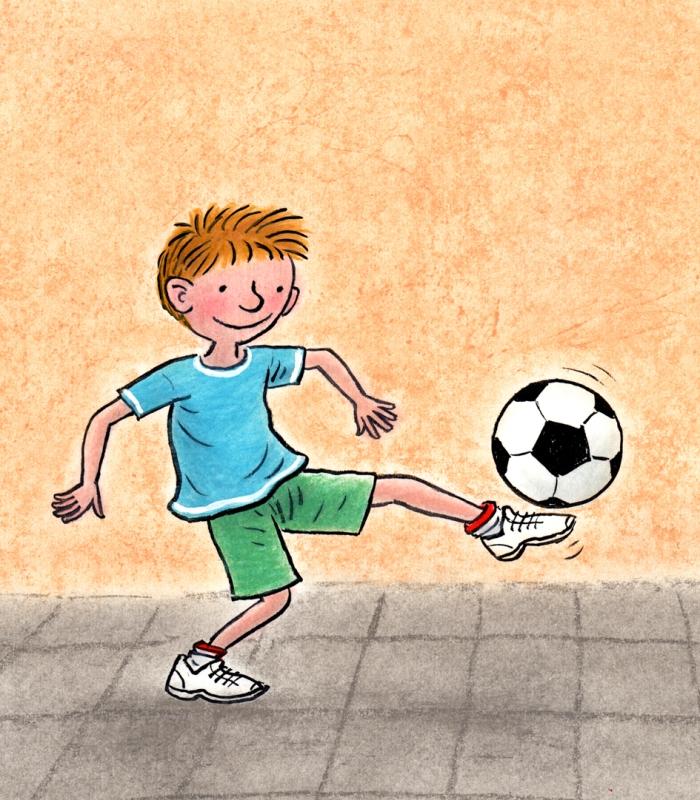 een held in voetbal omslagillustratie
