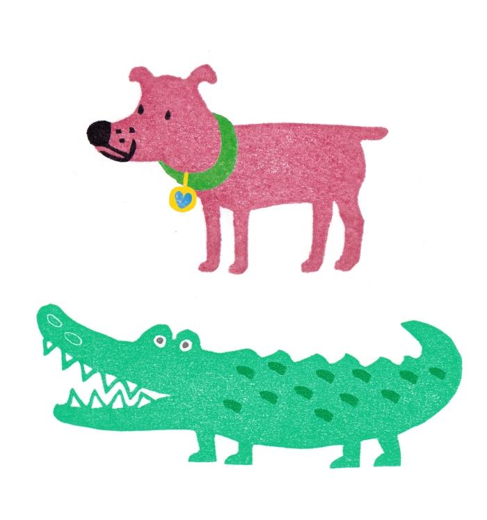 hond en krokodil